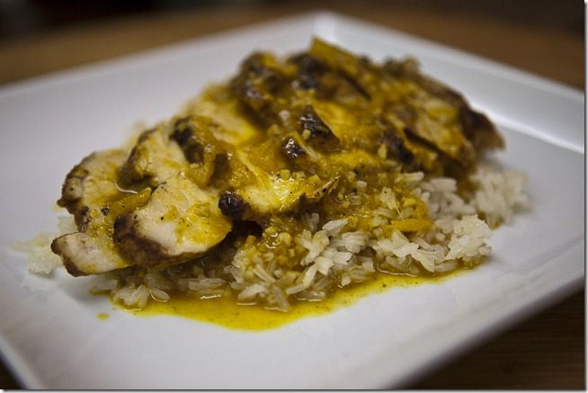Curry Seared Chicken with a Curry Ginger Orange Reduction-2