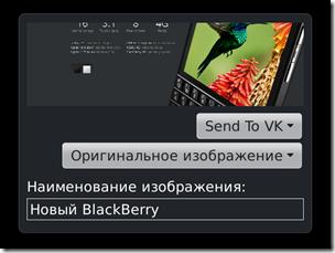 Отправить в ВКонтакте для BlackBerry 1