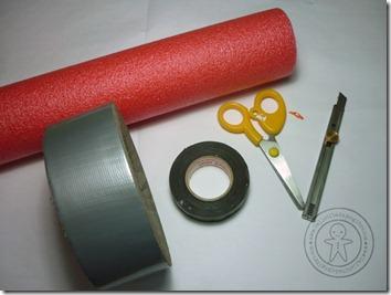 materiales para hacer un sable laser