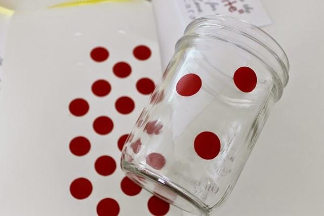 vinyl polka dots