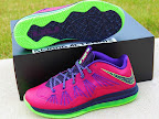 nike lebron 10 low gr purple neon green 2 02 Release Reminder: NIKE LEBRON X LOW Raspberry (579765 601)