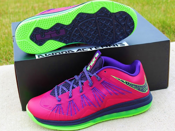 Upcoming Nike Air Max LeBron X Low Red Plum  Electric Green