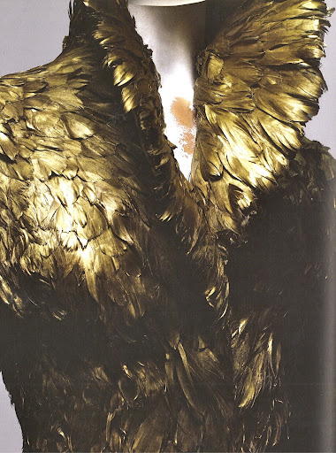 Here is a close-up of the duck feather jacket.