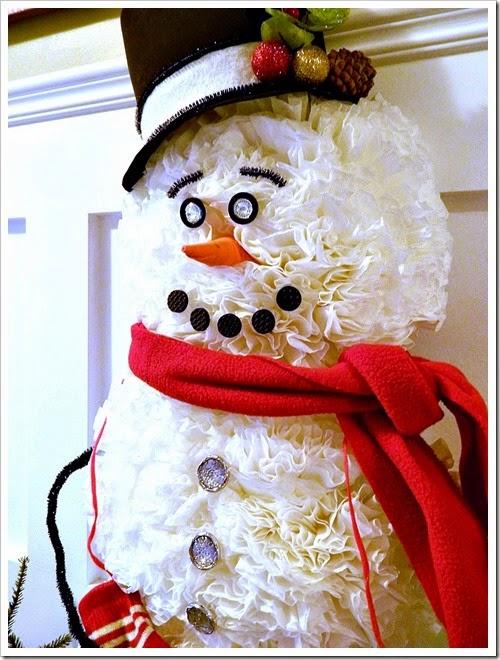 coffee filter snowman 31