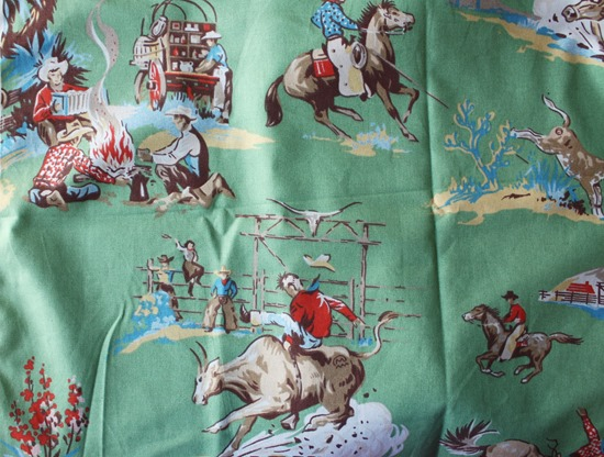 Rodeo fabric for kids' room