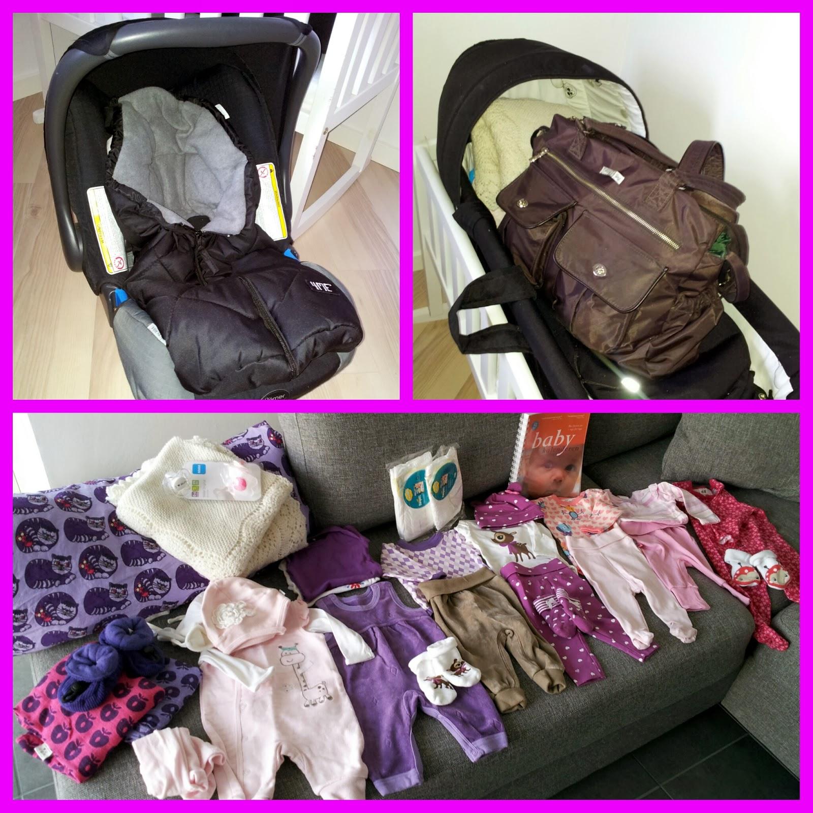 taske til hospitalet fødsel