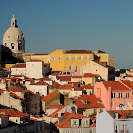 Alfama by Selin Barbulescu - City,  Street & Park  Historic Districts ( sunset, aflama, lisbon, portugal, city )