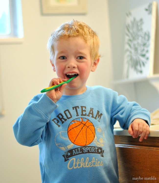 A few ideas to help set good dental care habits while your kids are young!