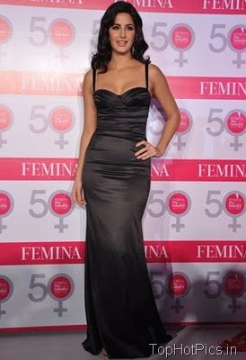 Katrina Kaif in Gorgeous Black Dress at Femina Launch 2
