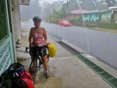 Navigating a Costa Rican downpour.