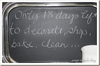 18 days chalkboard