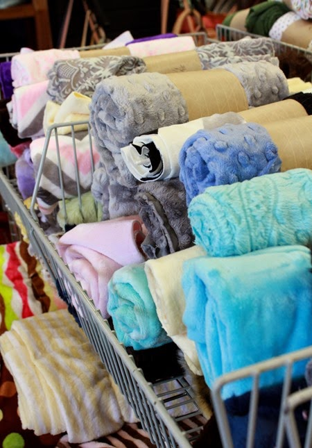 Minky remnants at The Fabric Mill