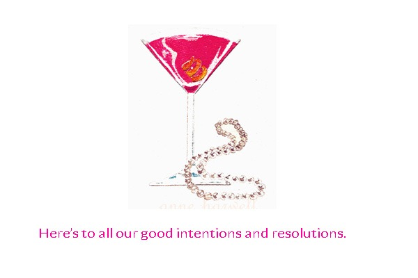 pink martinis and pearls