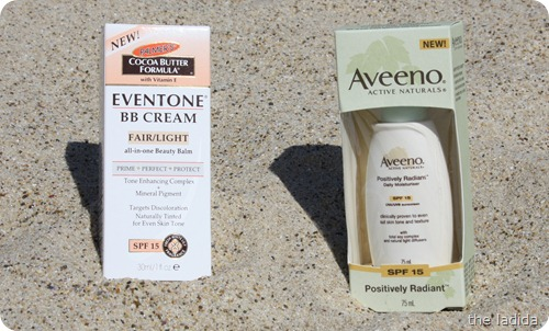 Summer Beauty Essentials - Face Care with SPF - Palmers Eventone BB Cream and Aveeno Positively Radiant