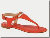 Somerset by Alice Temperley Orange Toe Post Sandal