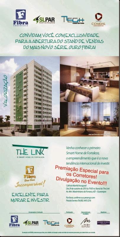 Convite Abertura stand The Link
