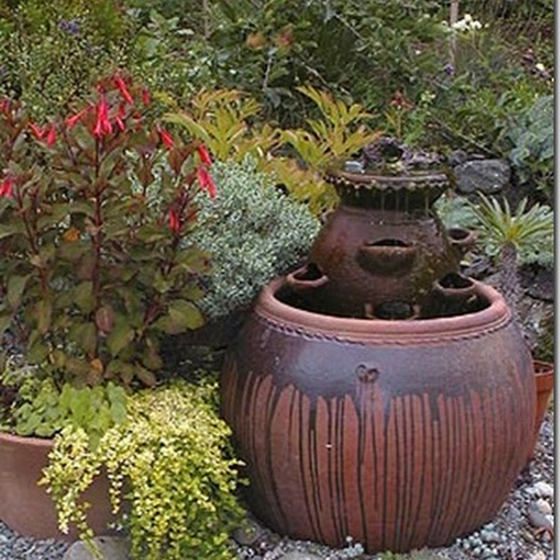 Home Made Garden Fountain