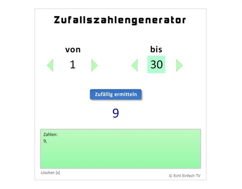 Adventskalendergewinnspiel - Zufallsgenerator