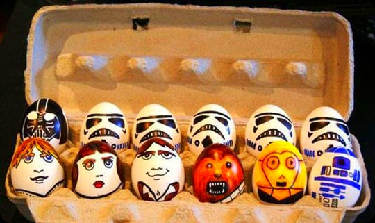 funny star wars eggs