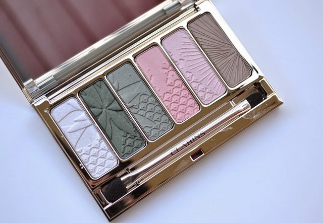 Clarins Garden Escape Palette Makeup Look Review Swatches (9)