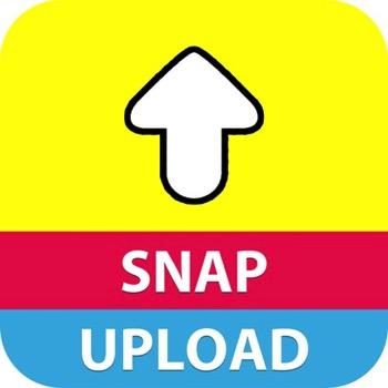カメラロールの写真をSnapchat
