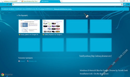 Windows 8 Theme Untuk Browser Google Chrome