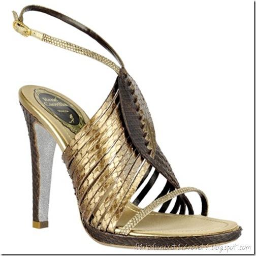 rene caovilla strappy metallic sandal