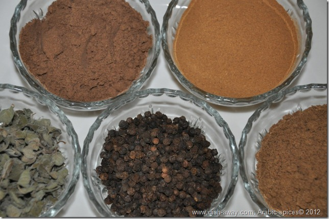 Arabic Spices by www.dish-away.com