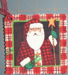 2011 Christmas fabric gift tag santa 2