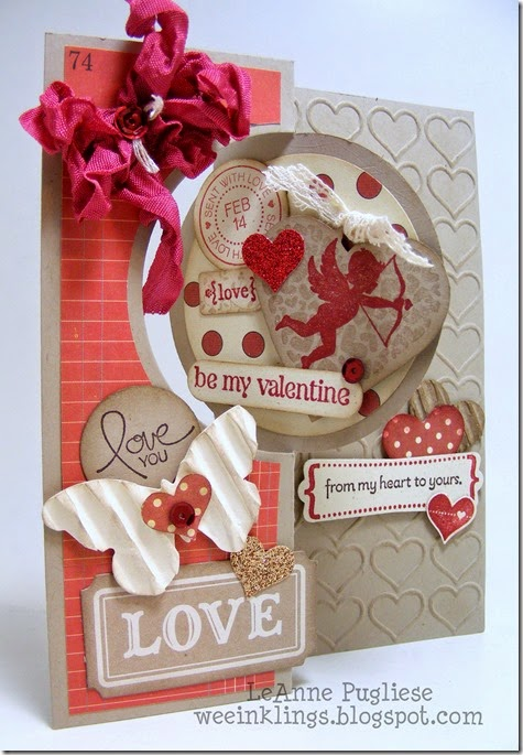 LeAnne Pugliese WeeInklings Circle Card Valentine Stampin Up