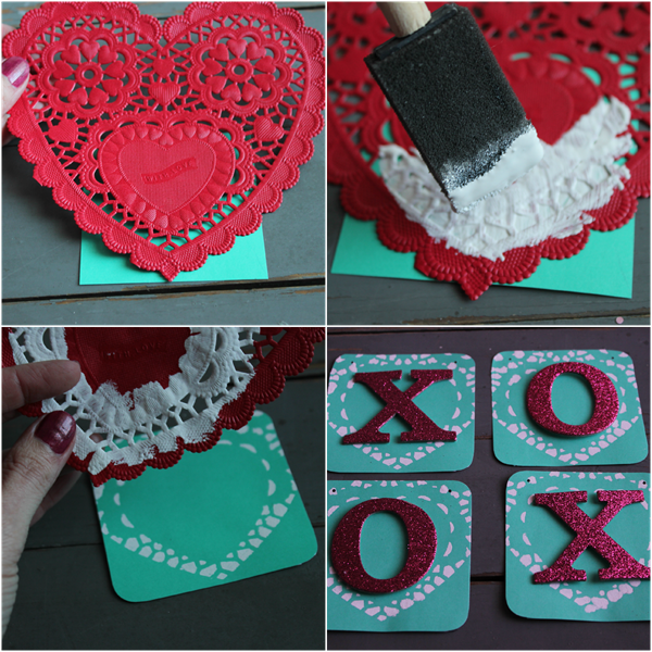 DIY Valentine Bunting with Doily