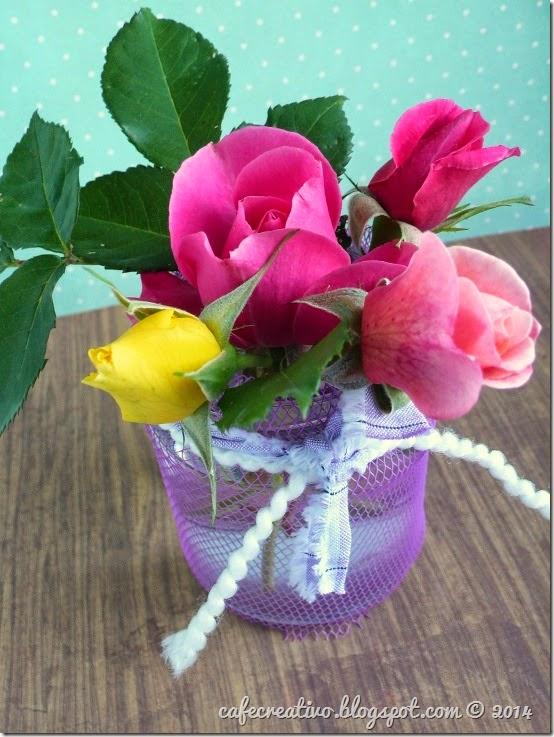 cafe creativo - tutorial riciclo vaso fiori retina (4)