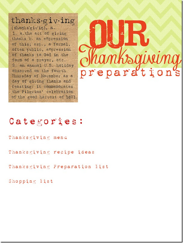 Thanksgiving prep list copy