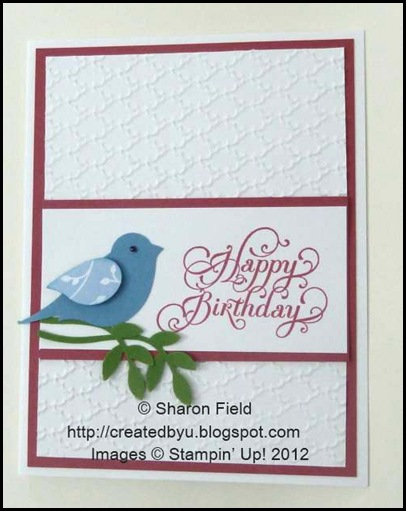 senior stampers always enjoy cards with birds on them