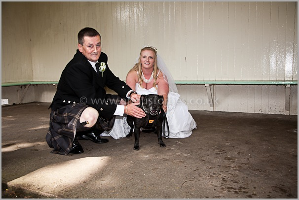 staffie wedding photography at the cults hotel aberdeen