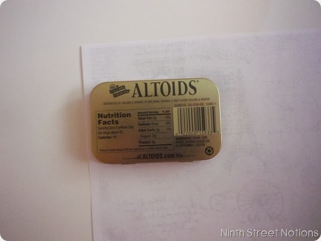 How to Mod Podge an Altoids Tin