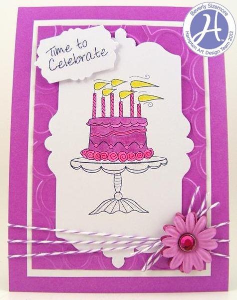 HA May Project Three Birthday Cake Card