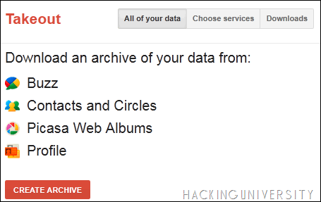 Backup Google Data with Google Takeout