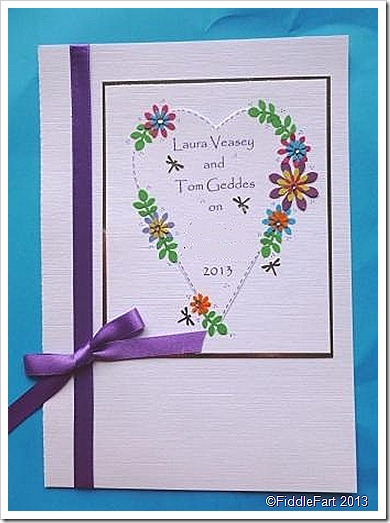Colourful wedding invitations