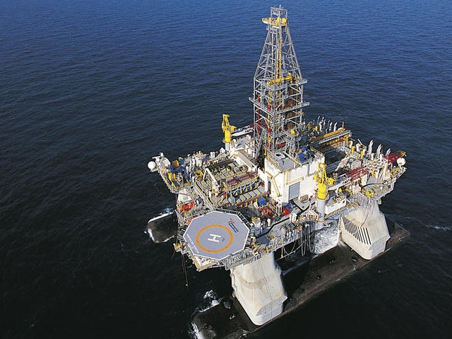 The BP Deepwater Horizon oil rig before the blowout and explosion on 20 April 2010. via baynews9.com