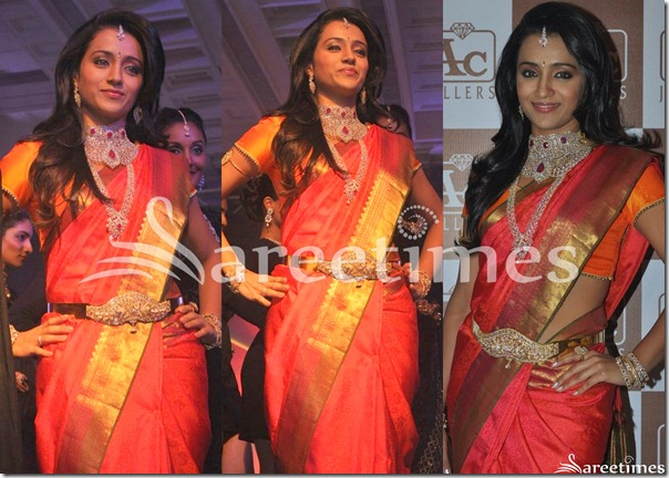 Trisha_Red_Traditional_Silk_Saree