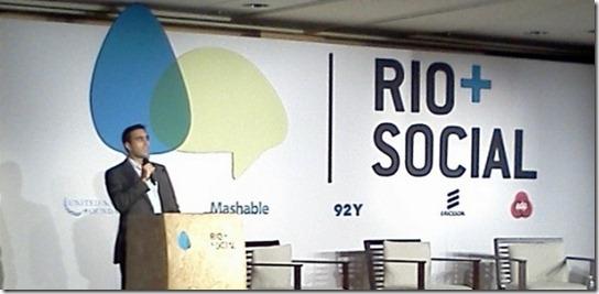 Leonardo Tristão falou sobre como o Facebook pode ajudar nas soluções de problemas (Twitter/Rio Matters)