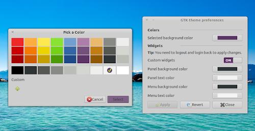 GTK Theme Preferences su Ubuntu