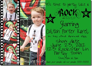 Coltons 2nd birthday party invite