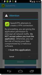 إتفاقية الإستخدام الخاصة بالتطبيق SpeedVPN
