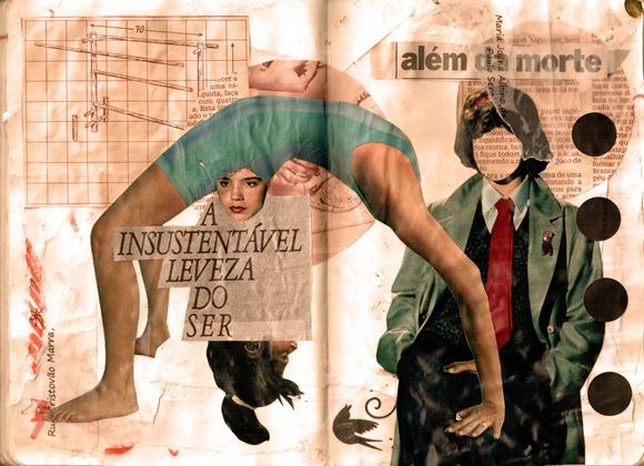 Colagem A INSUSTENTAVEL LEVEZA DO SER