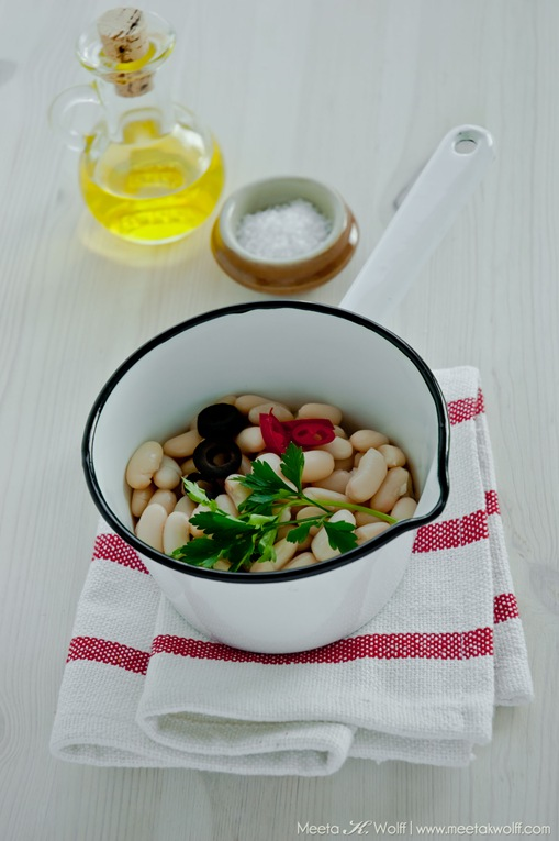 Cannellini Bean Salad with Olives and Ricotta (0098) by Meeta K. Wolff