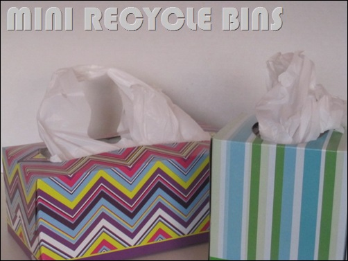tissue box recycle bins