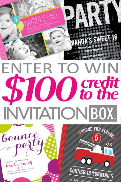 Invitation box Giveaway