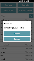 Screenshot of English Turkish Flash Card